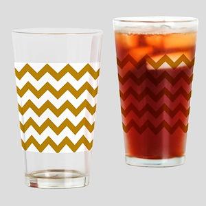 Golden Rod Chevron Drinking Glass