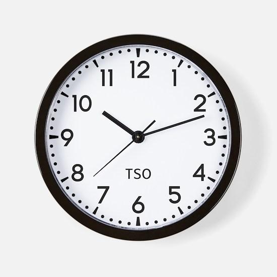 Tso Newsroom Wall Clock