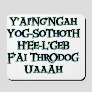 Yog-Sothoth White Mousepad