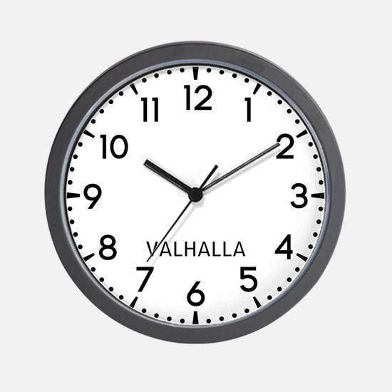 Valhalla Newsroom Wall Clock