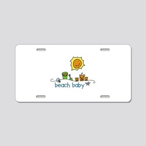 Beach Baby Aluminum License Plate