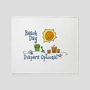 Beach Day Throw Blanket