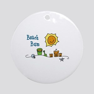 Beach Bum Ornament (Round)