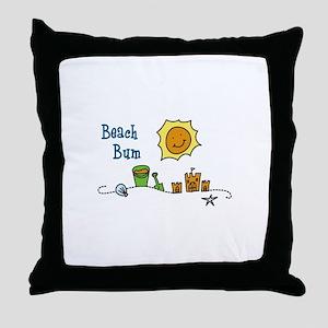 Beach Bum Throw Pillow