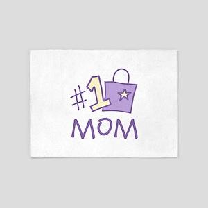 #1 Mom 5'x7'Area Rug