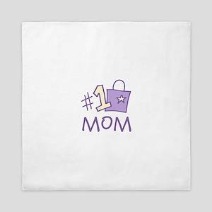#1 Mom Queen Duvet