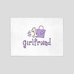 #1 GIRL FRIEND 5'x7'Area Rug
