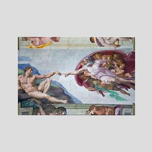 Michelangelo's S .Chapel Rectangle Magnet