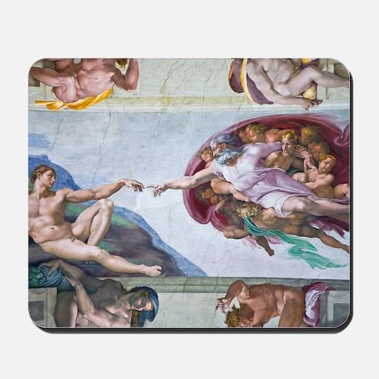 Michelangelo's S .Chapel Mousepad