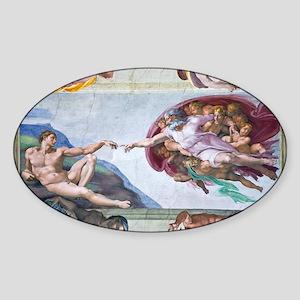 Michelangelo's S .Chapel Sticker (Oval)