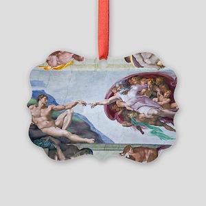 Michelangelo's S .Chapel Picture Ornament