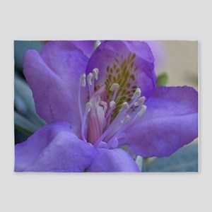 Purple Rhododendron Flower 5'x7'Area Rug