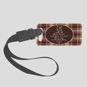 Proverbs 3:5 Bible Verse Small Luggage Tag