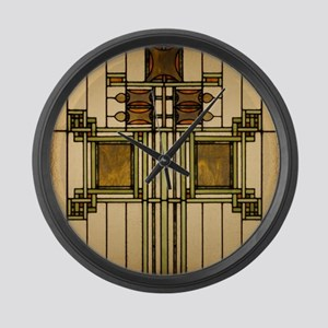 Prairie Glass Large Wall Clock