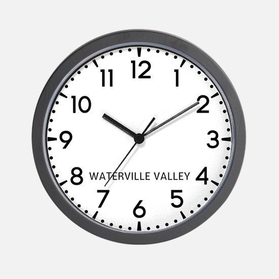 Waterville Valley Newsroom Wall Clock