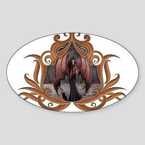 Autumn Mystique Gothic Fairy Vampire and Cat Art S