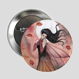 "Autumn Dreams Fairy Fantasy Art 2.25"" Button"