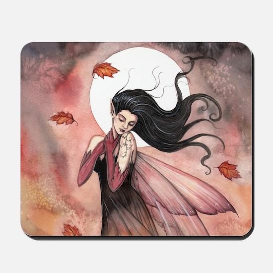 Autumn Dreams Fairy Fantasy Art Mousepad