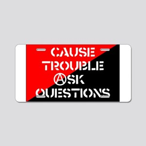 ask5x3rect_sticker Aluminum License Plate