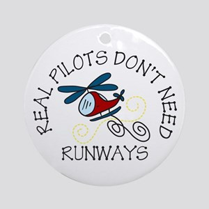 Real Pilots Ornament (Round)