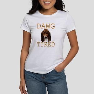 Dawg Tired Basset Women's T-Shirt
