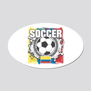 Columbia Soccer 20x12 Oval Wall Decal