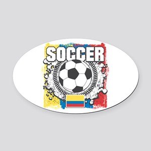 Columbia Soccer Oval Car Magnet