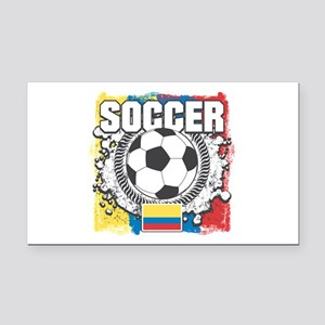 Columbia Soccer Rectangle Car Magnet