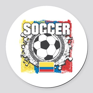 Columbia Soccer Round Car Magnet