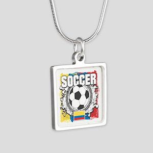 Columbia Soccer Silver Square Necklace