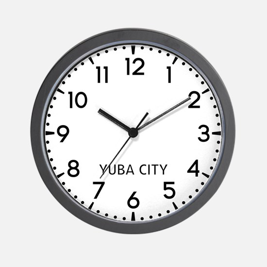 Yuba City Newsroom Wall Clock