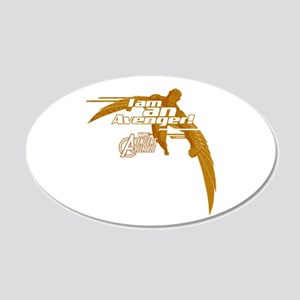 Avenger Falcon 20x12 Oval Wall Decal