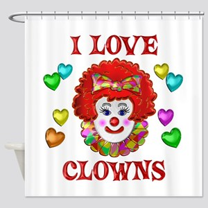 I Love Clowns Shower Curtain