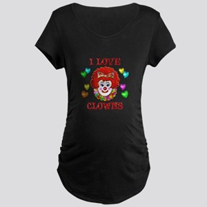 I Love Clowns Maternity Dark T-Shirt