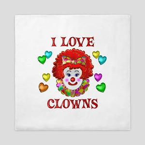 I Love Clowns Queen Duvet