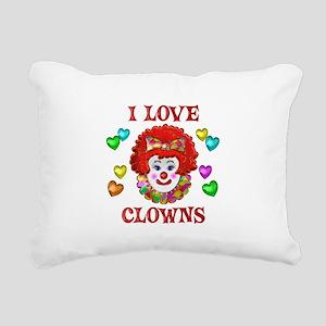 I Love Clowns Rectangular Canvas Pillow