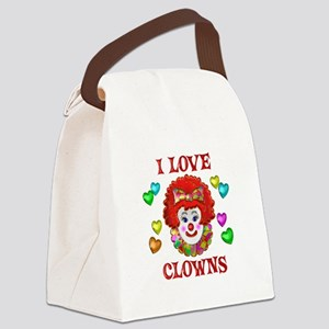 I Love Clowns Canvas Lunch Bag