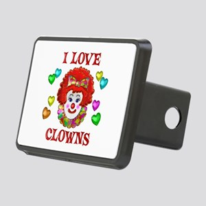 I Love Clowns Rectangular Hitch Cover