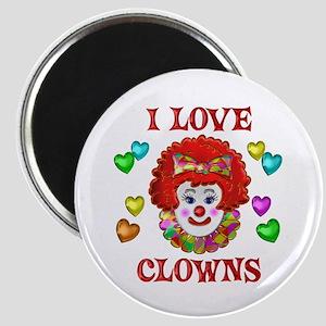 I Love Clowns Magnet