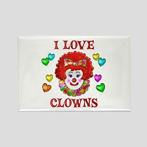 I Love Clowns Rectangle Magnet
