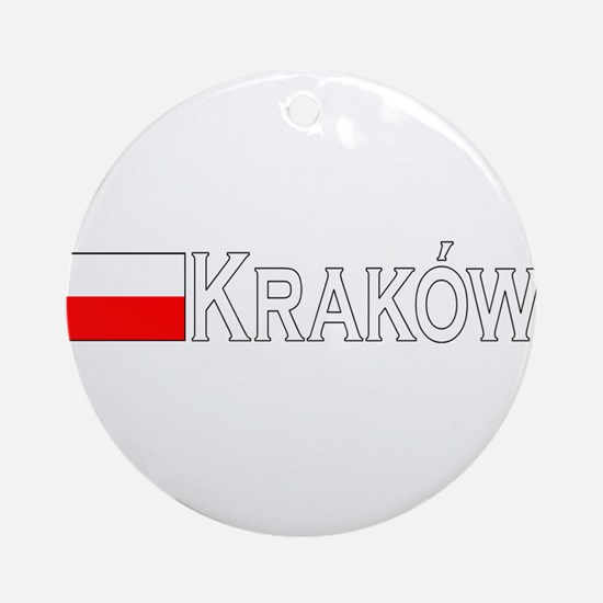 Krakow, Poland Ornament (Round)