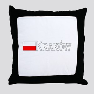 Krakow, Poland Throw Pillow