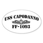 USS CAPODANNO Sticker (Oval)