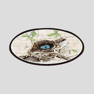 vintage bird nest french botanical art Patches