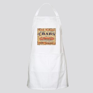 vintage crab woodgrain beach art Apron