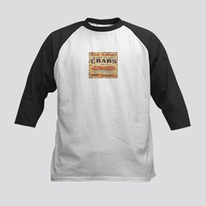 vintage crab woodgrain beach art Baseball Jersey