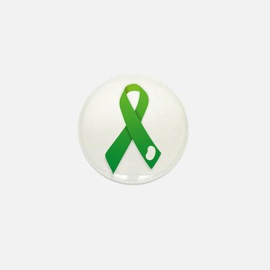 Green Ribbon Mini Button (100 Pack)