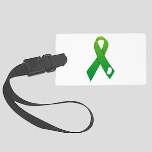 Green Ribbon Large Luggage Tag