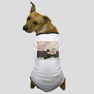 modern lace white rose floral fashion Dog T-Shirt