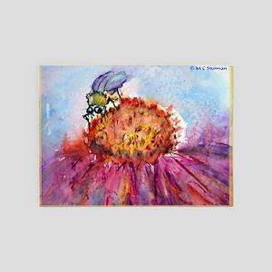 Bee! Bee on flower, art! 5'x7'Area Rug